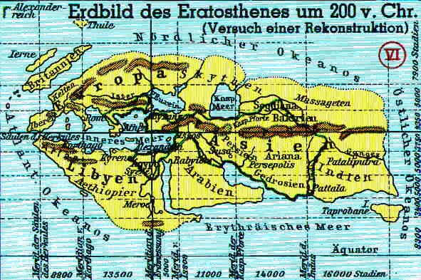 Karte des Eratosthenes